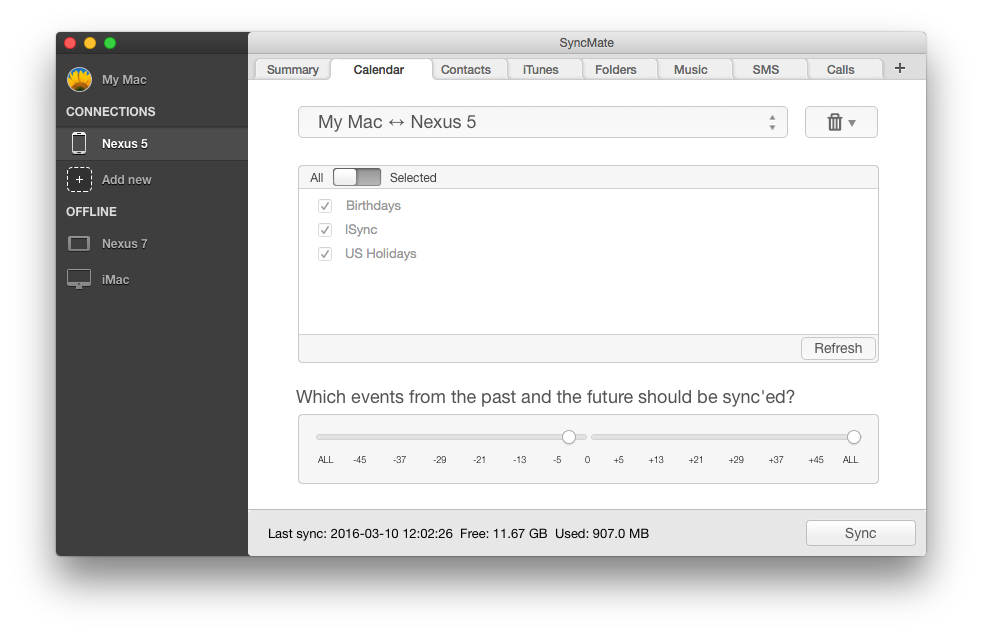Sync Mac calendar with Android without Google