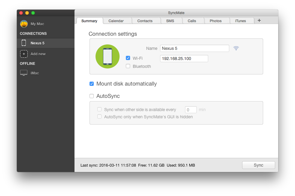 Mount Android as Mac disk