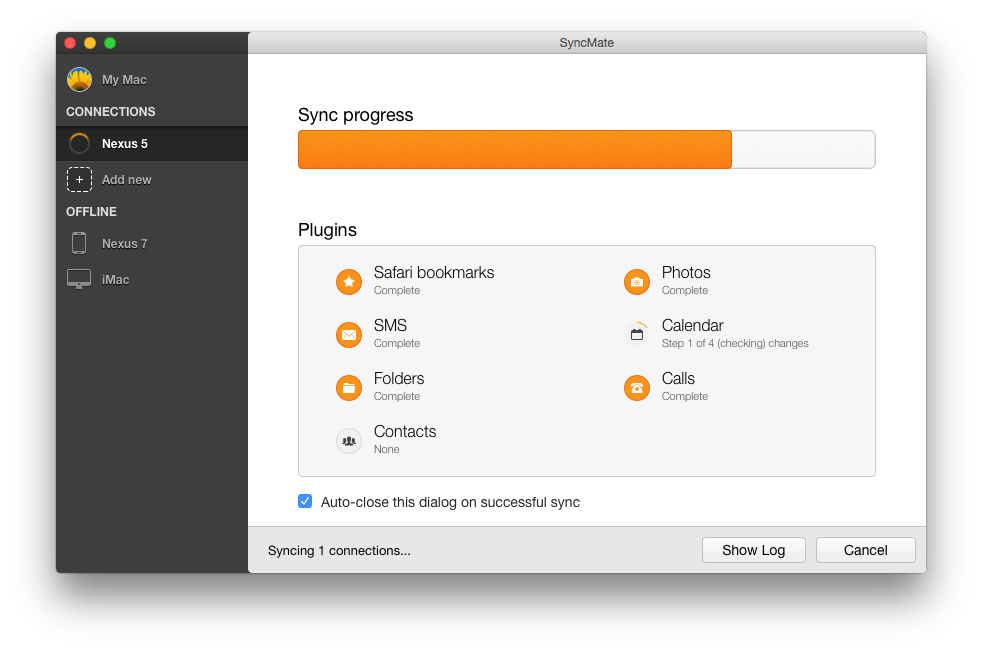 Sync Mac with Android without Google