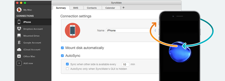 Synchronize iPhone with Mac