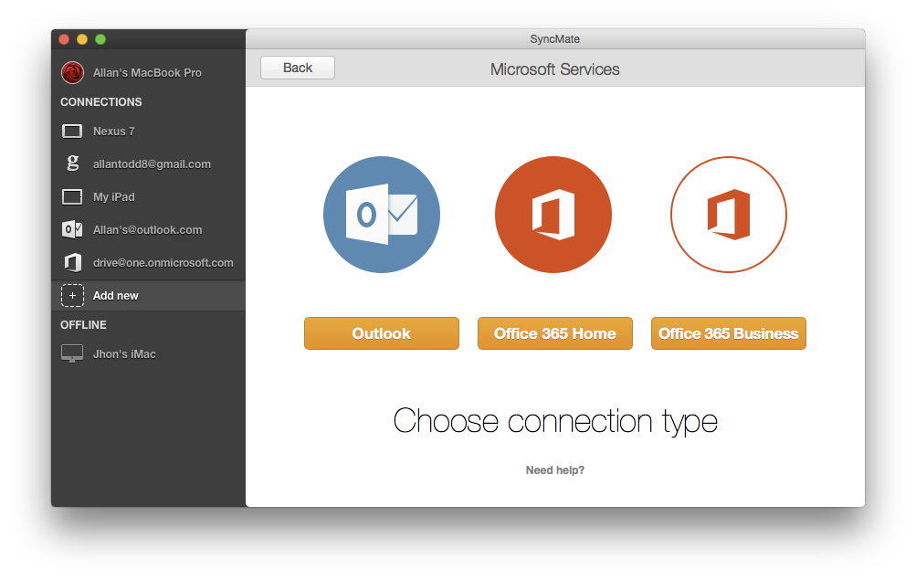 An easy to sync Outlook contacts with Mac OS X for free
