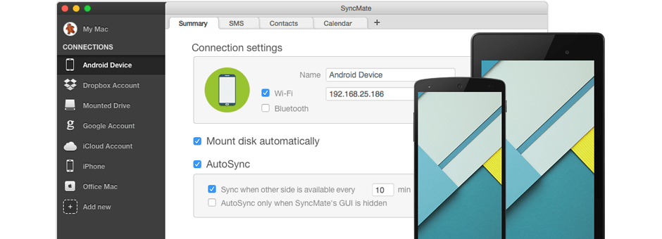 Synchroniser Android et Mac