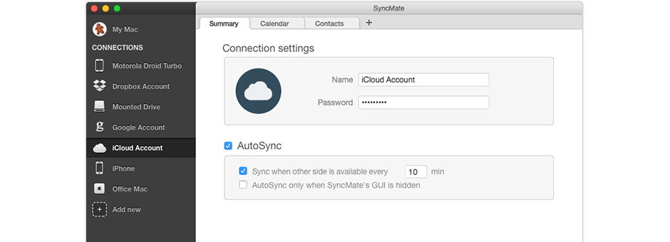 Cloud sync Mac
