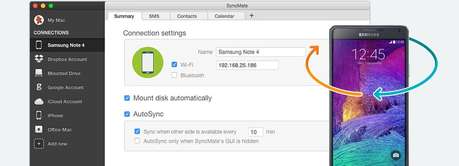 Synchronize Samsung and Mac